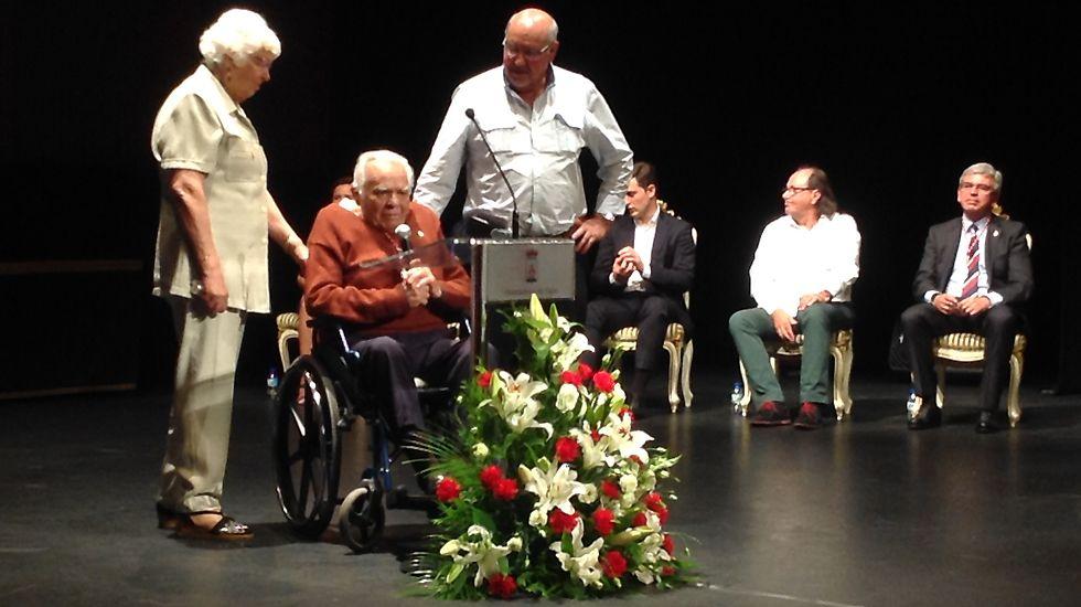 Gerardo Díaz Solís, «El Portu», junto a sus familiares