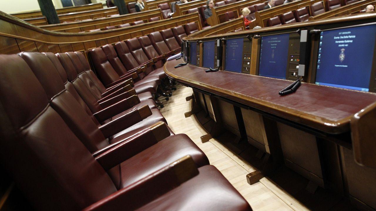 La conselleira Fabiola García ayer en el Parlamento