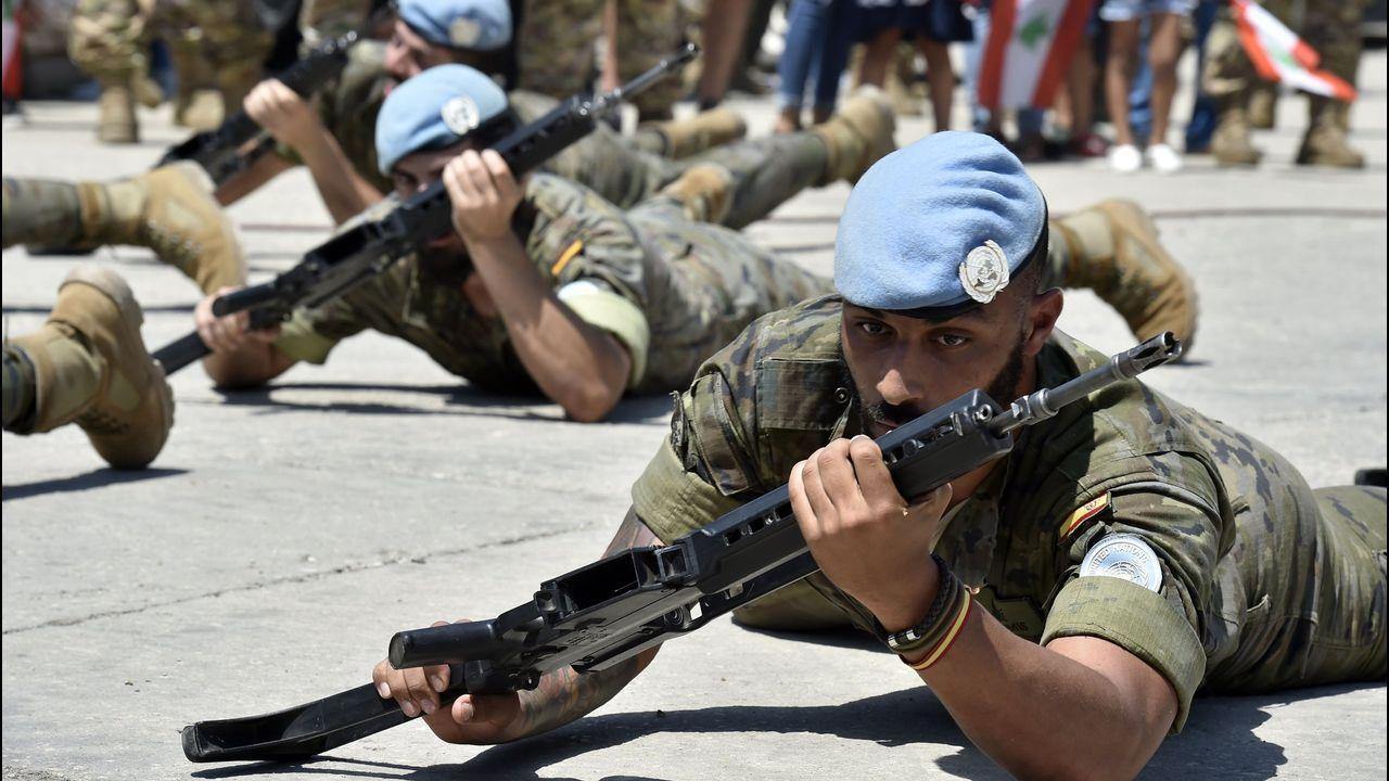 España cuenta con 600 militares destinados en la base Miguel de Cervantes en Marjayún, en el sur de Líbano fronterizo con Israel en el marco de la la fuerza de la ONU