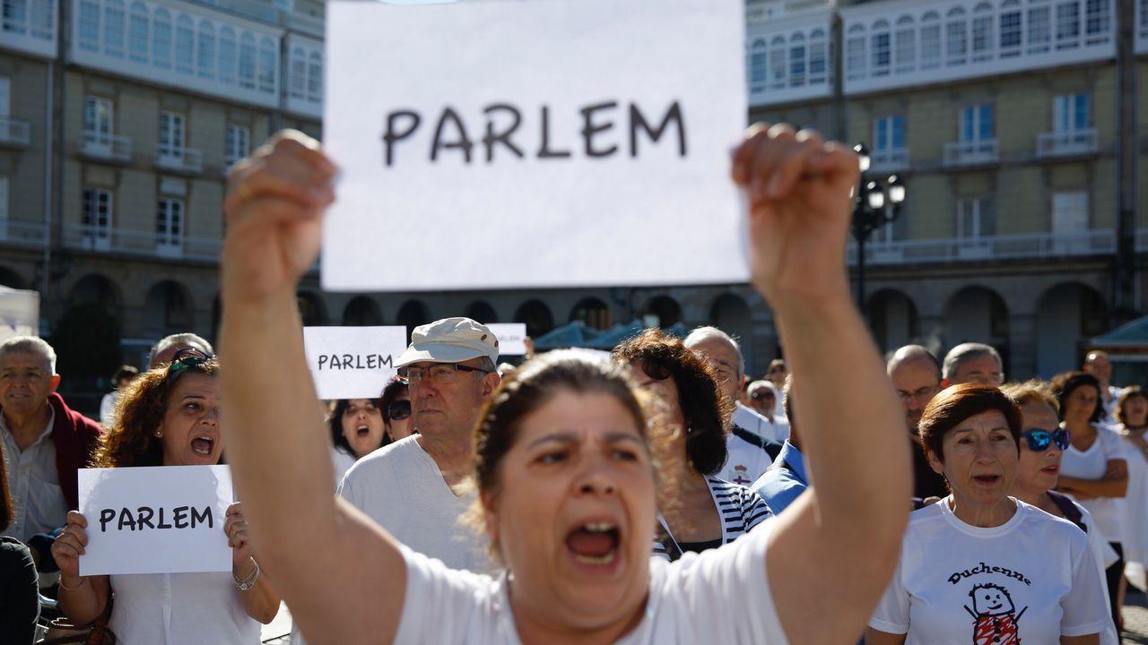 Manifestación en Maria Pita