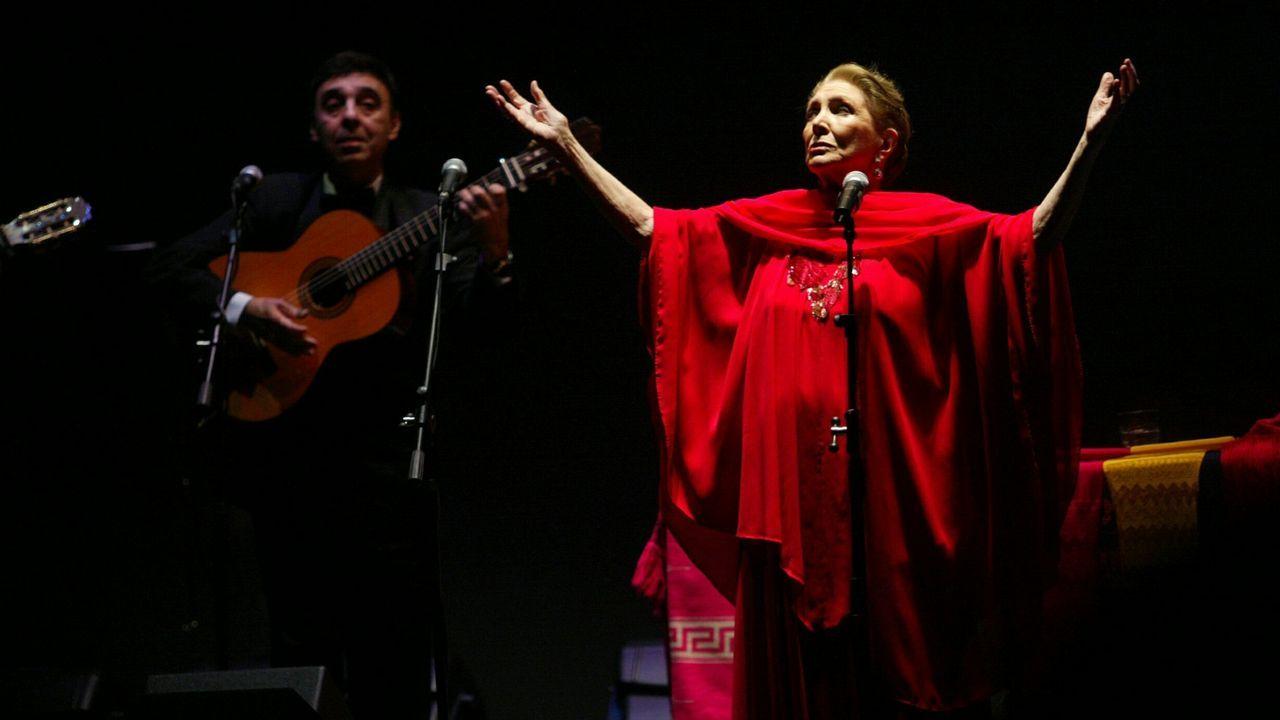 Maria Dolores Pradera en Ferrol en el 2005