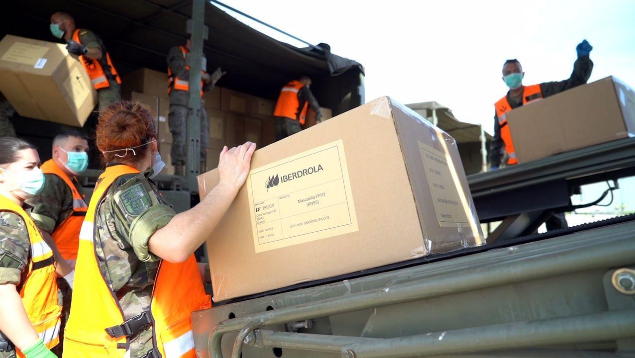 El material aterrizó en la base militar de Torrejón de Ardoz