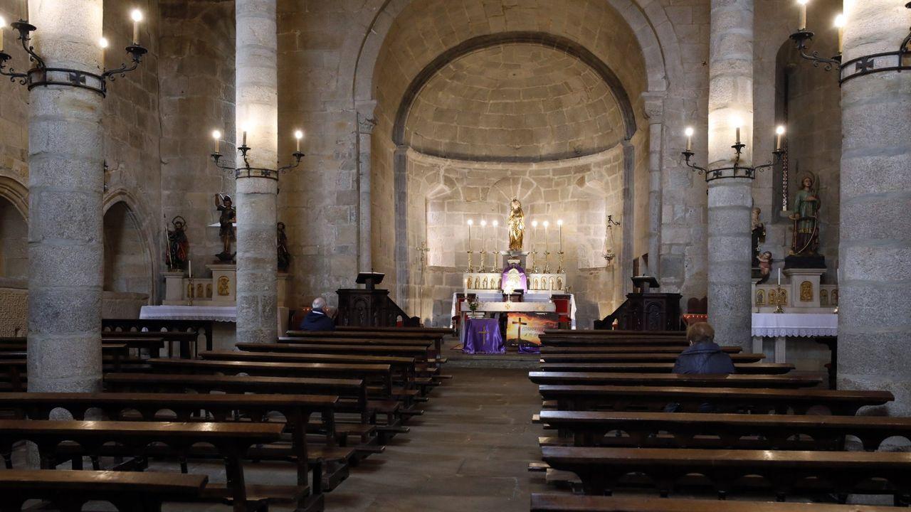 La iglesia de Santa María, en Viveiro, en una imagen de archivo