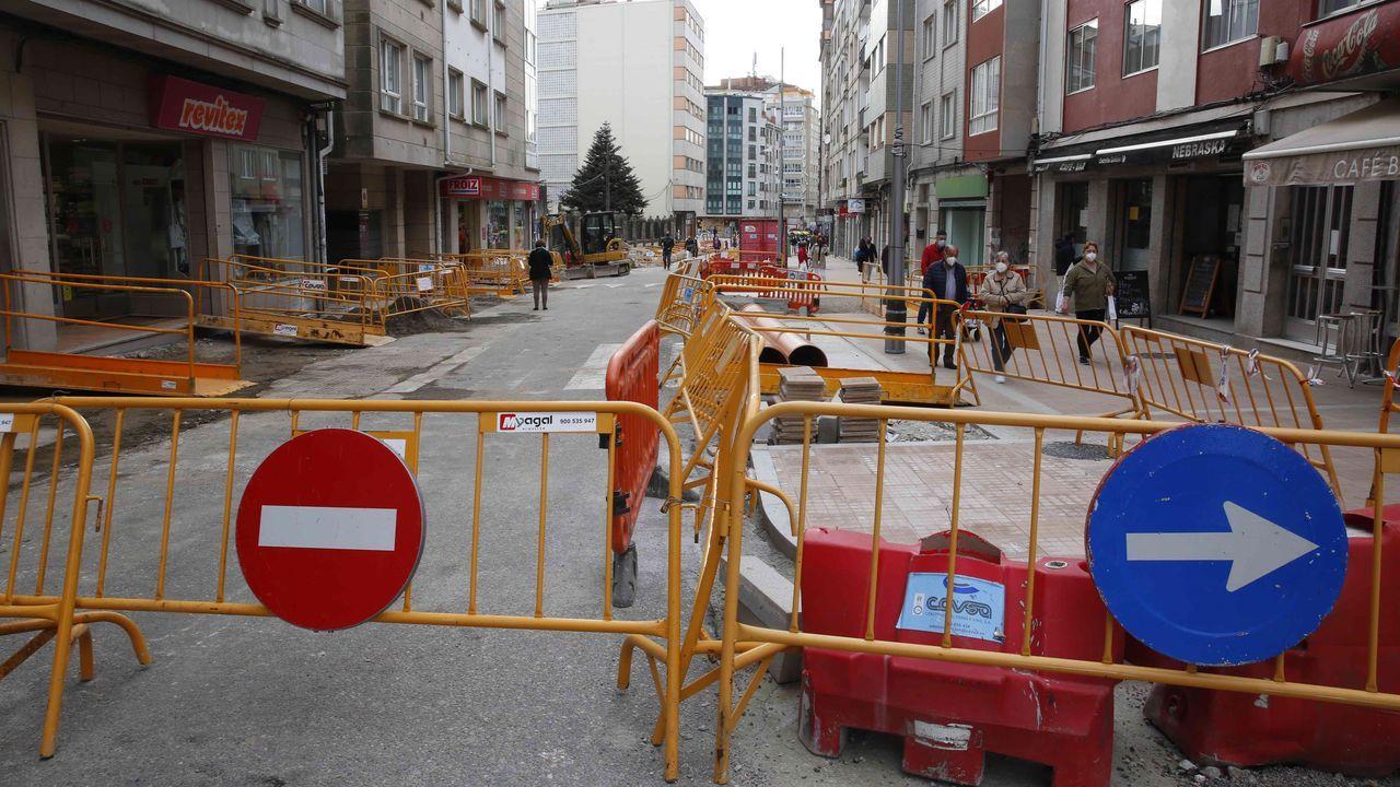 Así es el nuevo «núcleo de centralidade» en Os Campos.Obras en la calle Loureiro Crespo, en Pontevedra