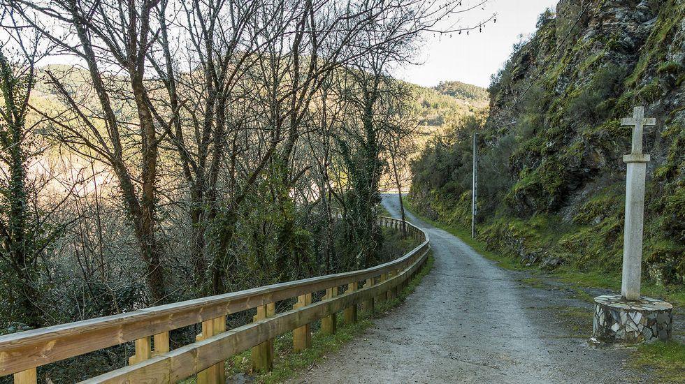 Un tramo del camino en las cercanías del lugar de A Ponte