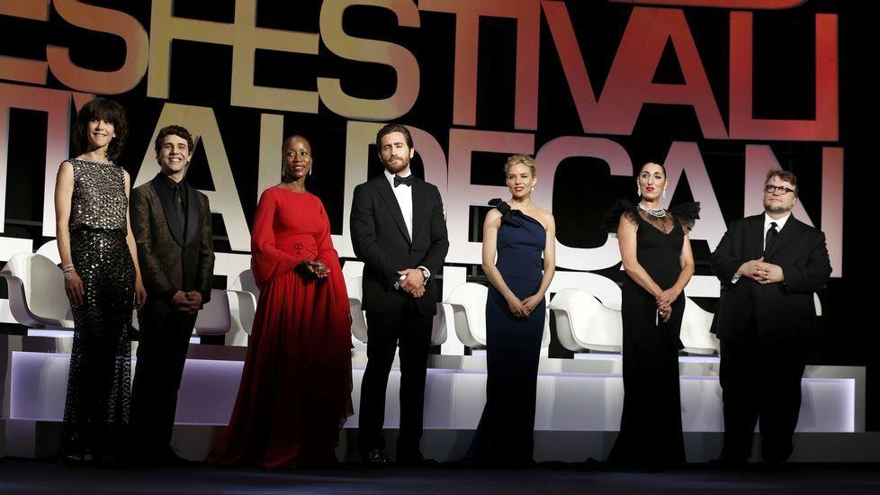 Los miembros del jurado durante la ceremonia de apertura