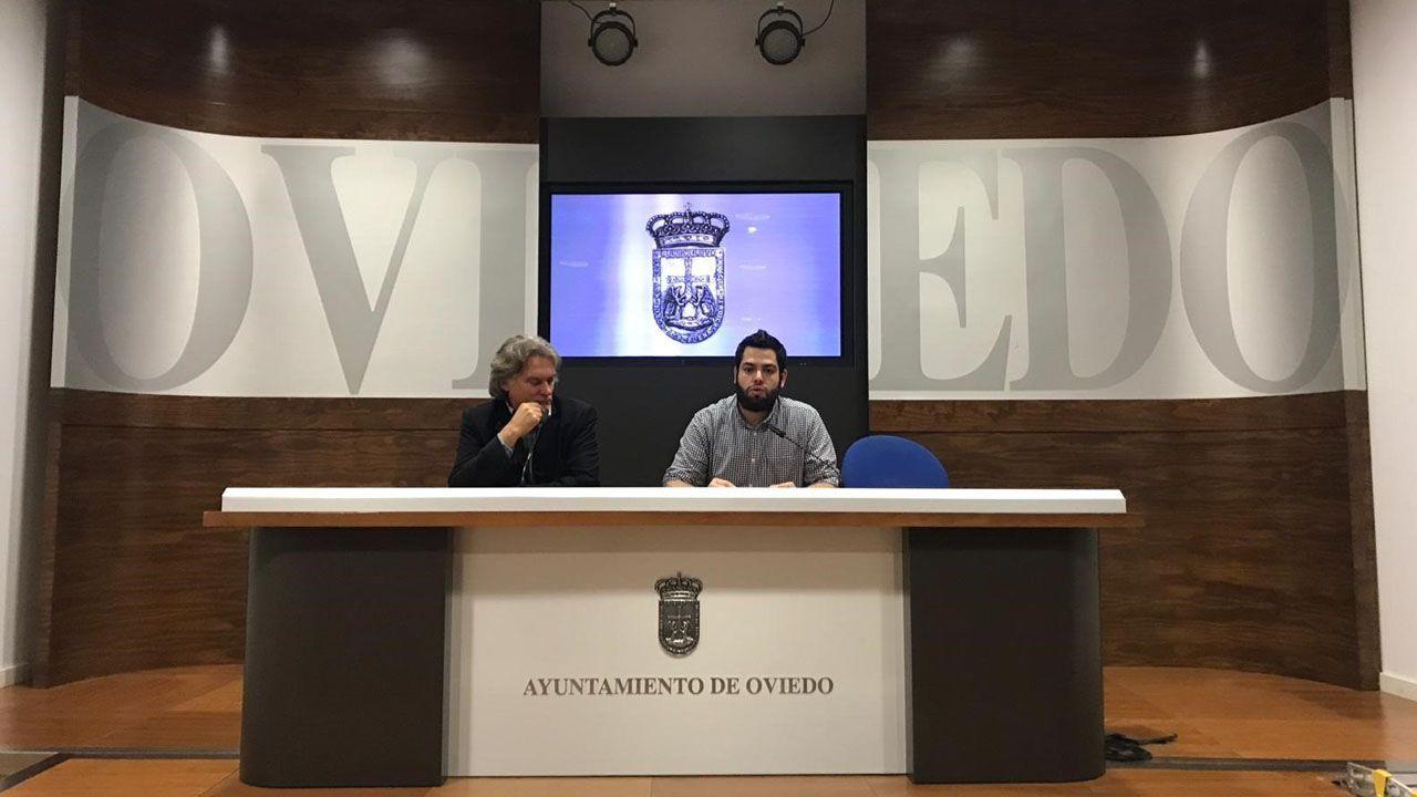 Helder Ferreira y Rubén Rosón en la presentación de «Sentir Portugal »