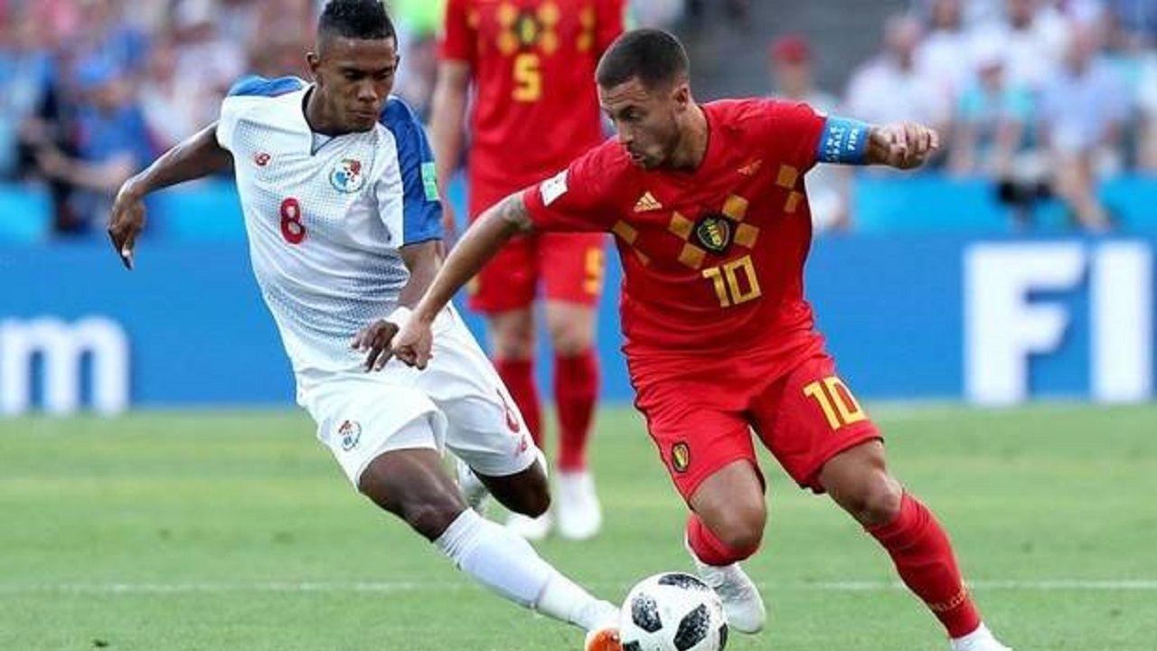 Édgar Joel Bárcenas y Eden Hazard en el pasado Mundial