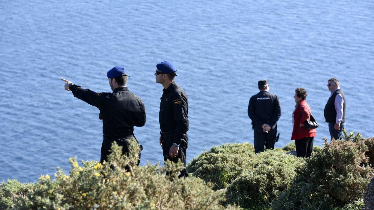 Búsqueda de un desaparecido en Cabo Fisterra
