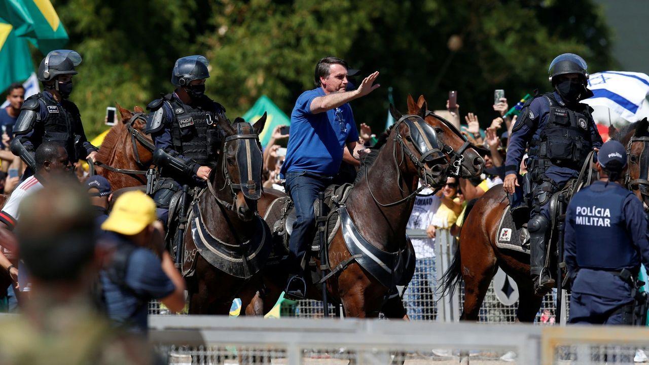 Bolsonaro, durante una de sus recientes apariciones