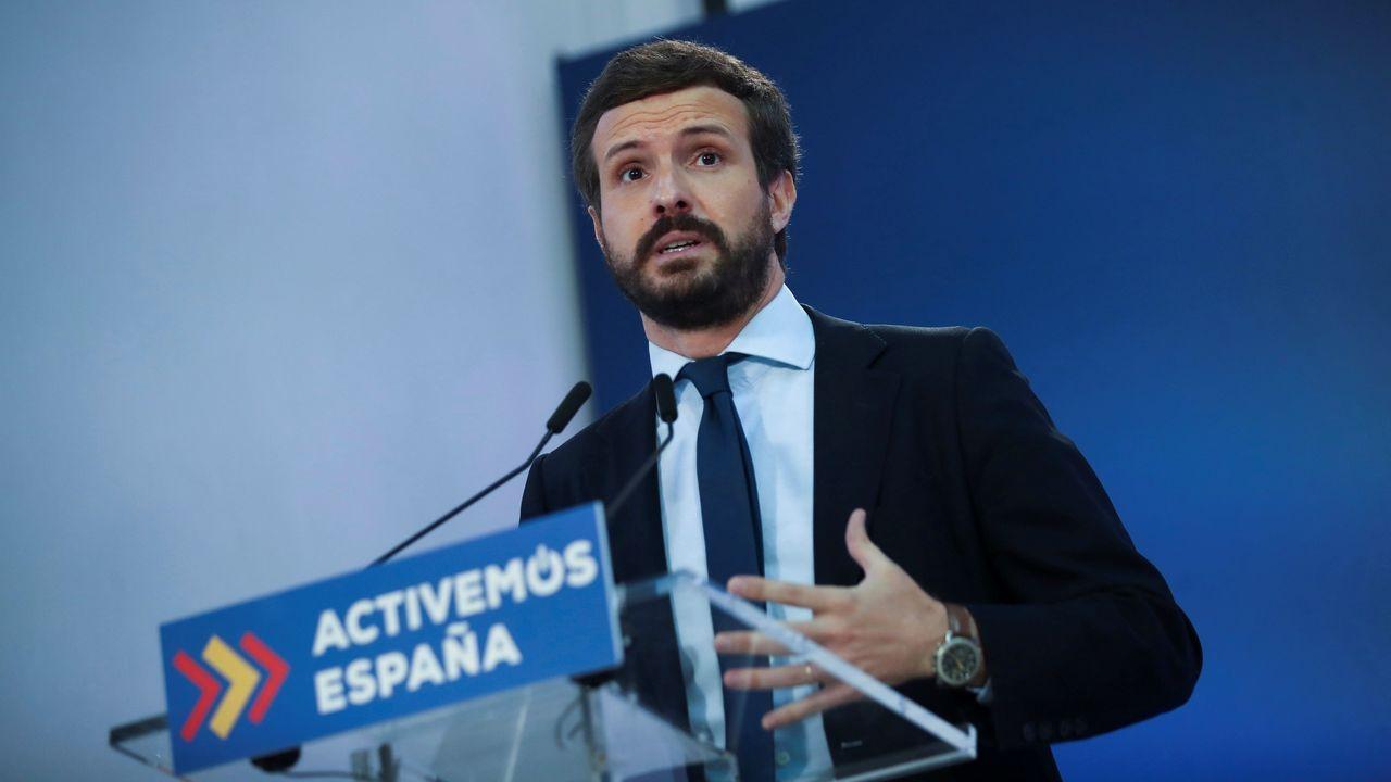Pablo Casado, el martes, en unas jornadas universitarias en El Escorial