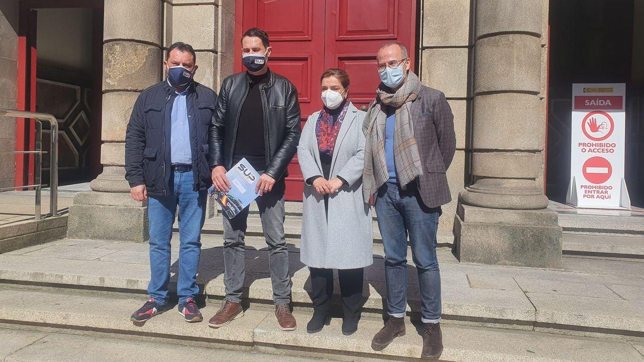 Representantes del SUP en Ourense y Galicia presentaron su propuesta al alcalde de Barbadás