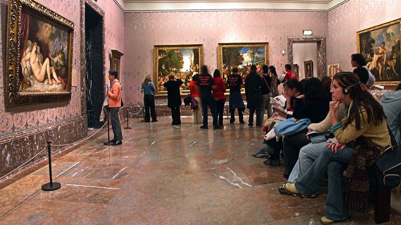 Sala de Tiziano, en el Museo del Prado