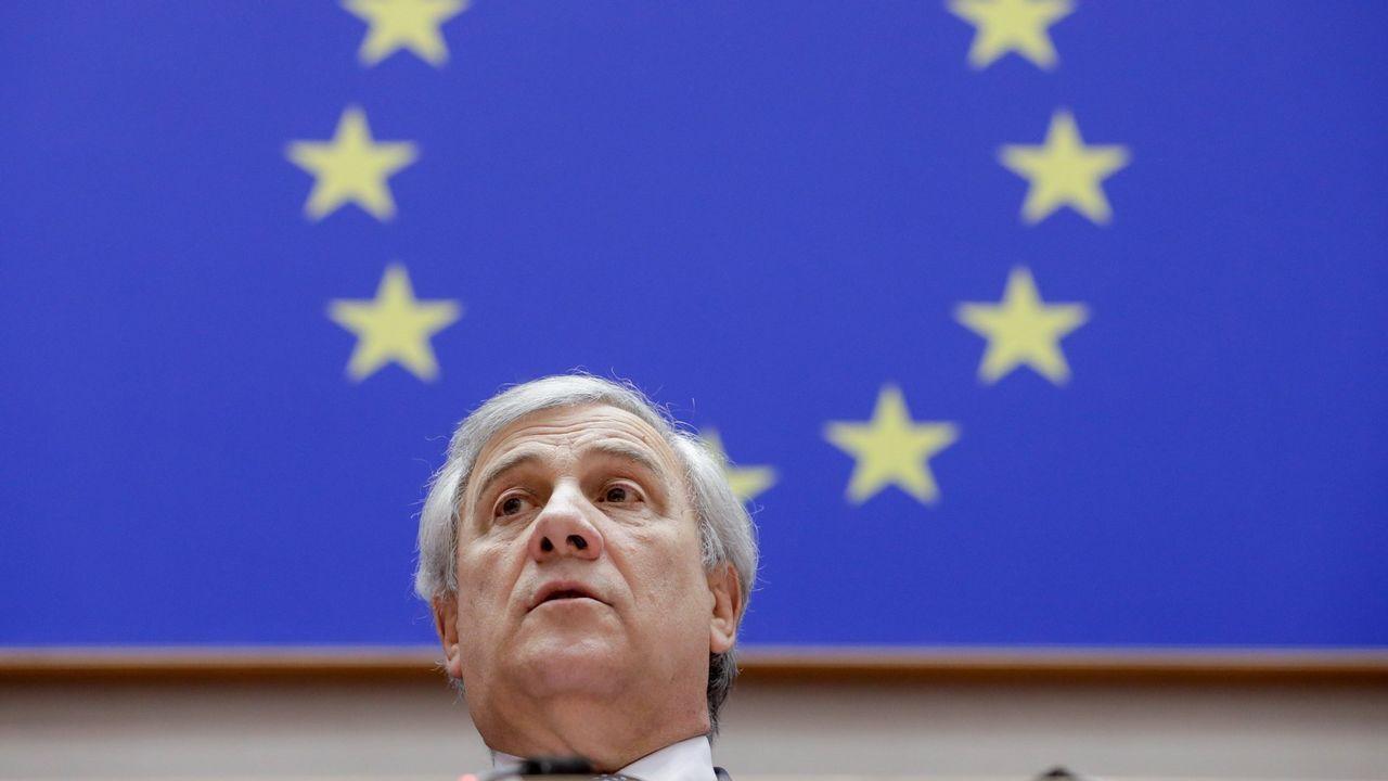 El presidente del Parlamento Europeo, el italiano Antonio Tajani