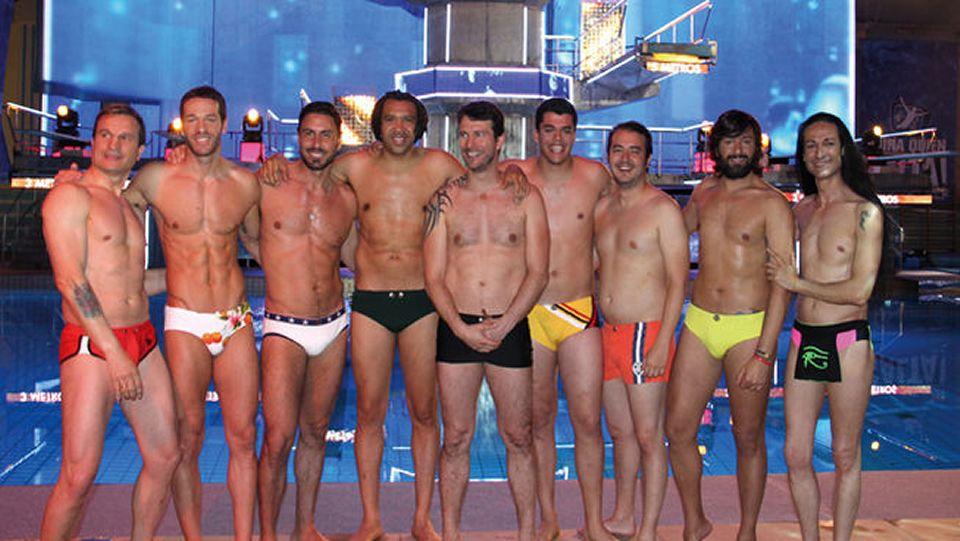 Conoce a los concursantes de «Mira quién salta».Sandro Rey (derecha) con sus compañeros de «Mira quién salta»