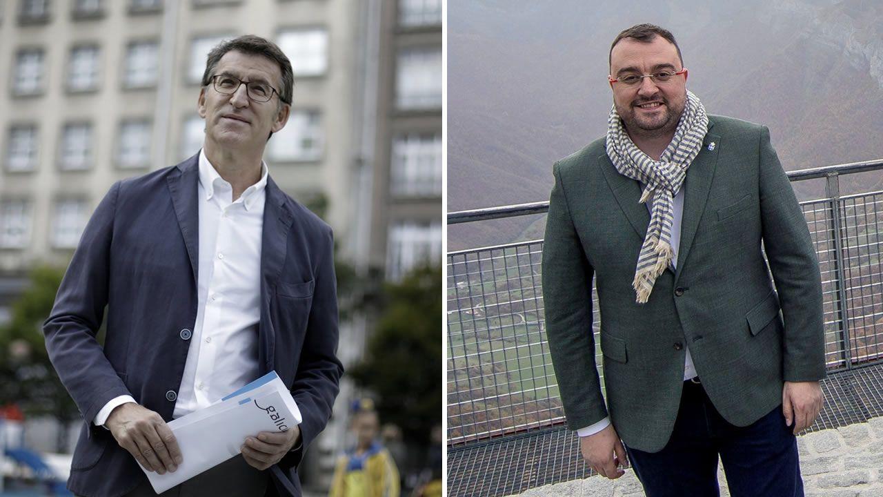 Galicia y Asturias abordan sus desafíos en el foro Encuentros en el Eo.Adrián Barbón