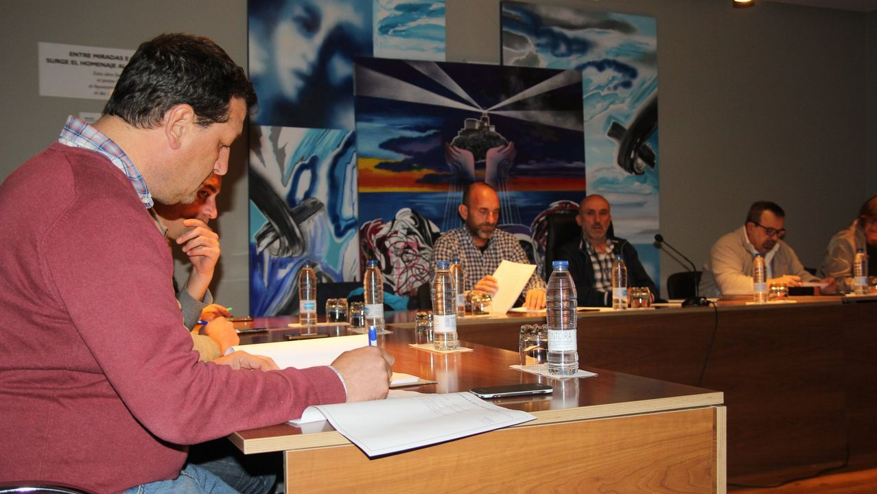 Imagen de archivo de un pleno en Fisterra