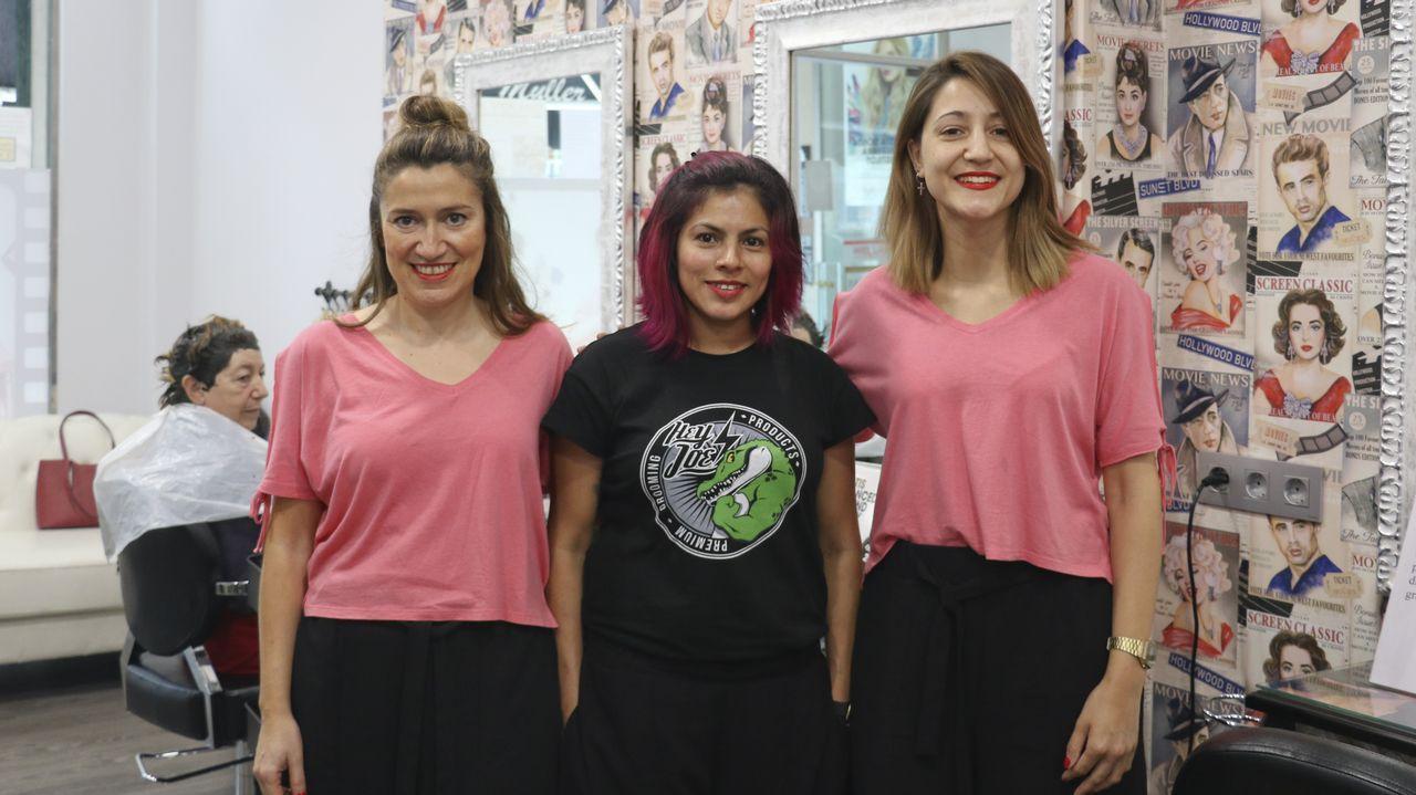 Carolina, Sonia y Rosa abrieron su peluquería en diciembre