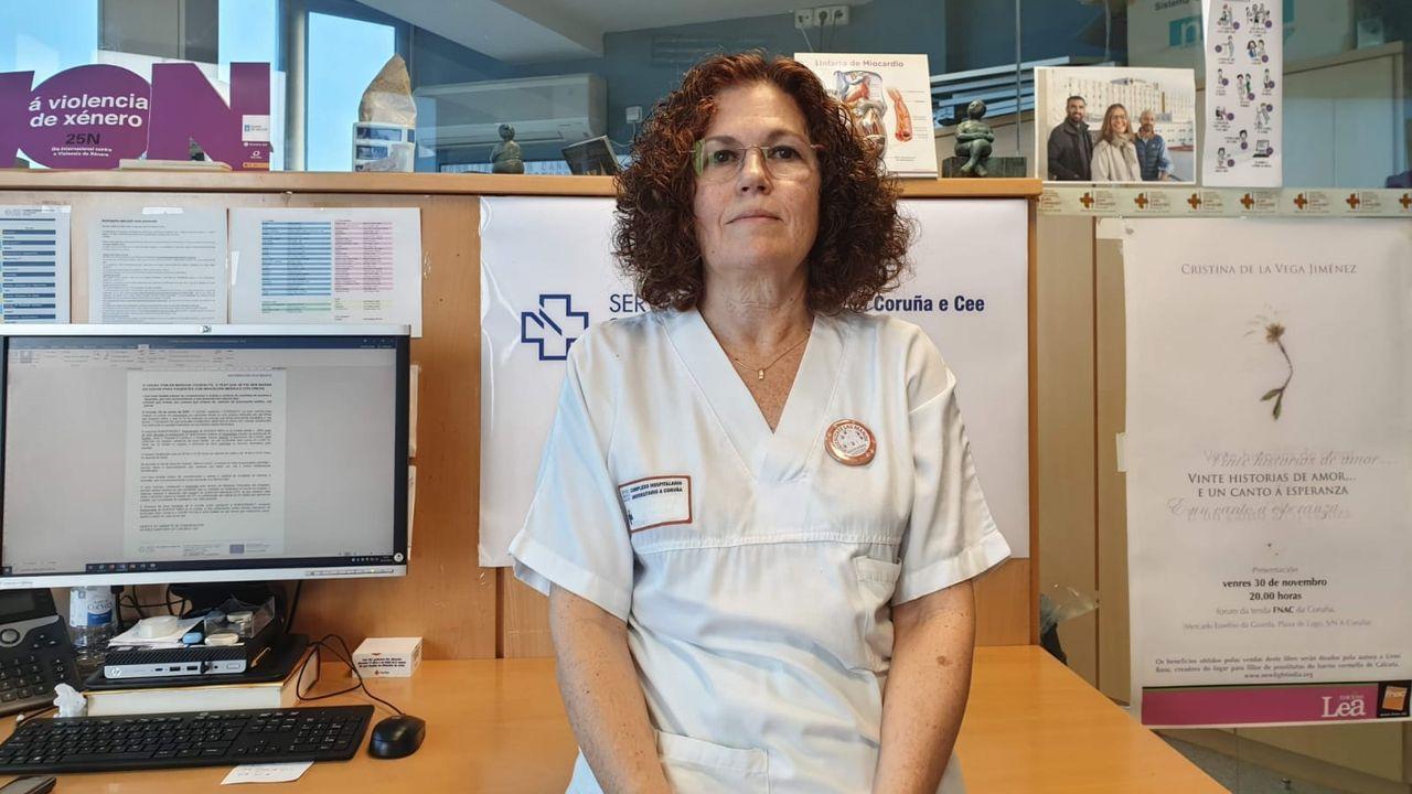 Marta Mosquera, supervisora de Medicina Preventiva del Chuac y coordinadora de vacunación en Expocoruña