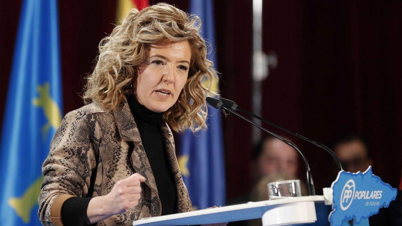 Teresa Mallada. Asturias. Aupada desde Madrid sobre la presidenta del PP regional en busca de un acercamiento a Foro Asturias, de A. Cascos.