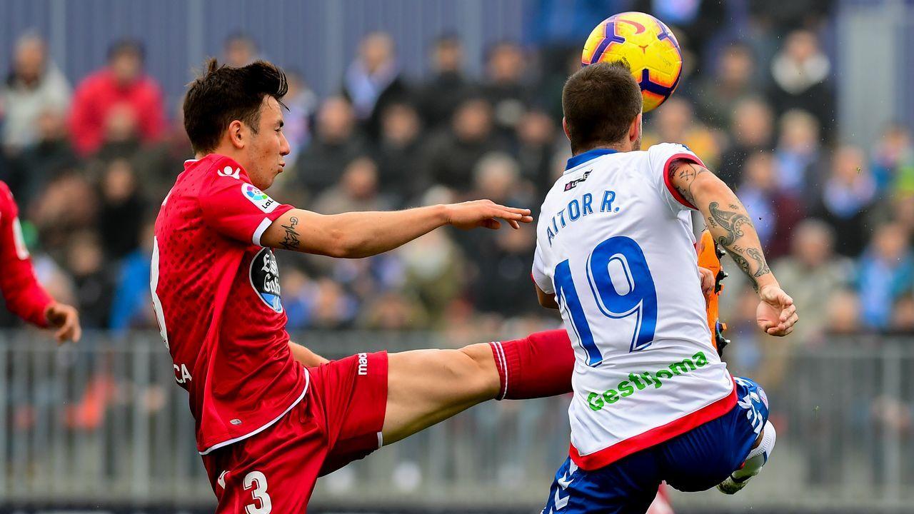 Gol Carlos Hernandez Numancia Real Oviedo Los Pajaritos.Carlos Hernández celebra el 1-2 frente al Numancia