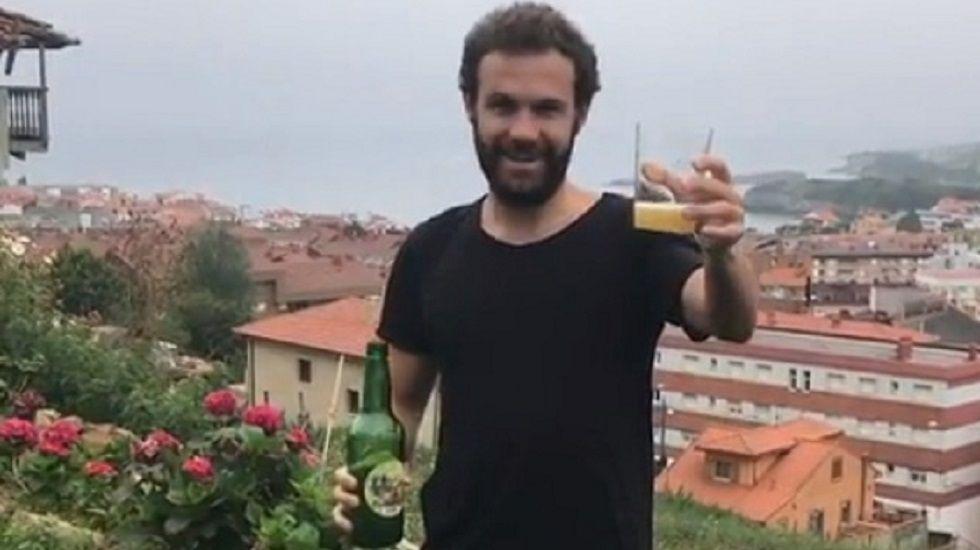 Las fotos de Juan Mata en la fiesta del Manchester.Juan Mata