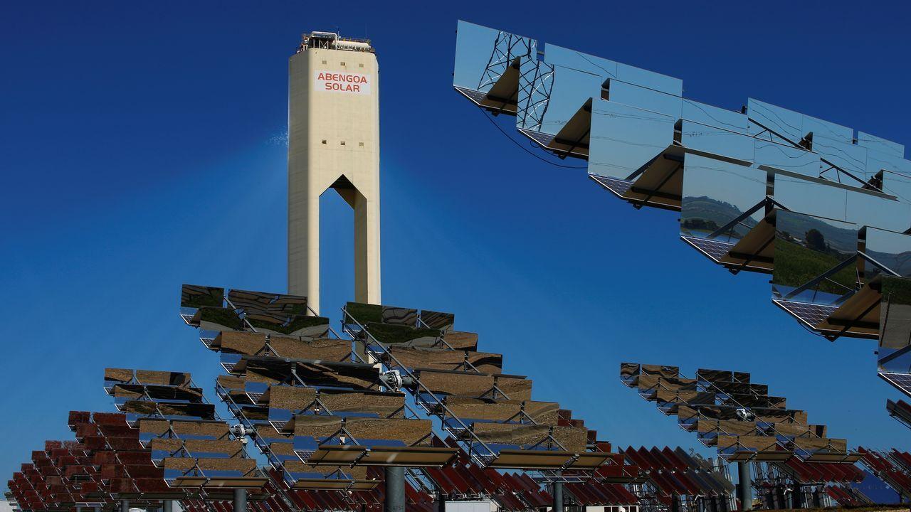 Parque fotovoltaico de Abengoa en Andalucía