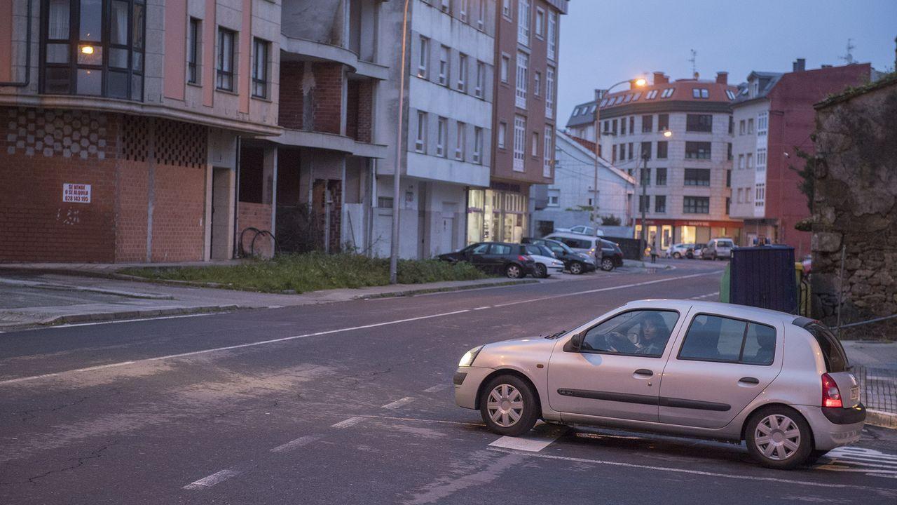Avenida de Fisterra, en Cee