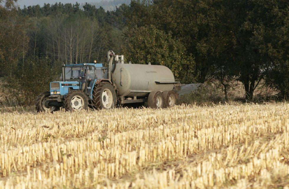 Los ganaderos tienen problemas para encontrar campos que usen sus purines como abono.