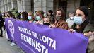 Participantes en la concentración contra el crimen de Mónica Marcos