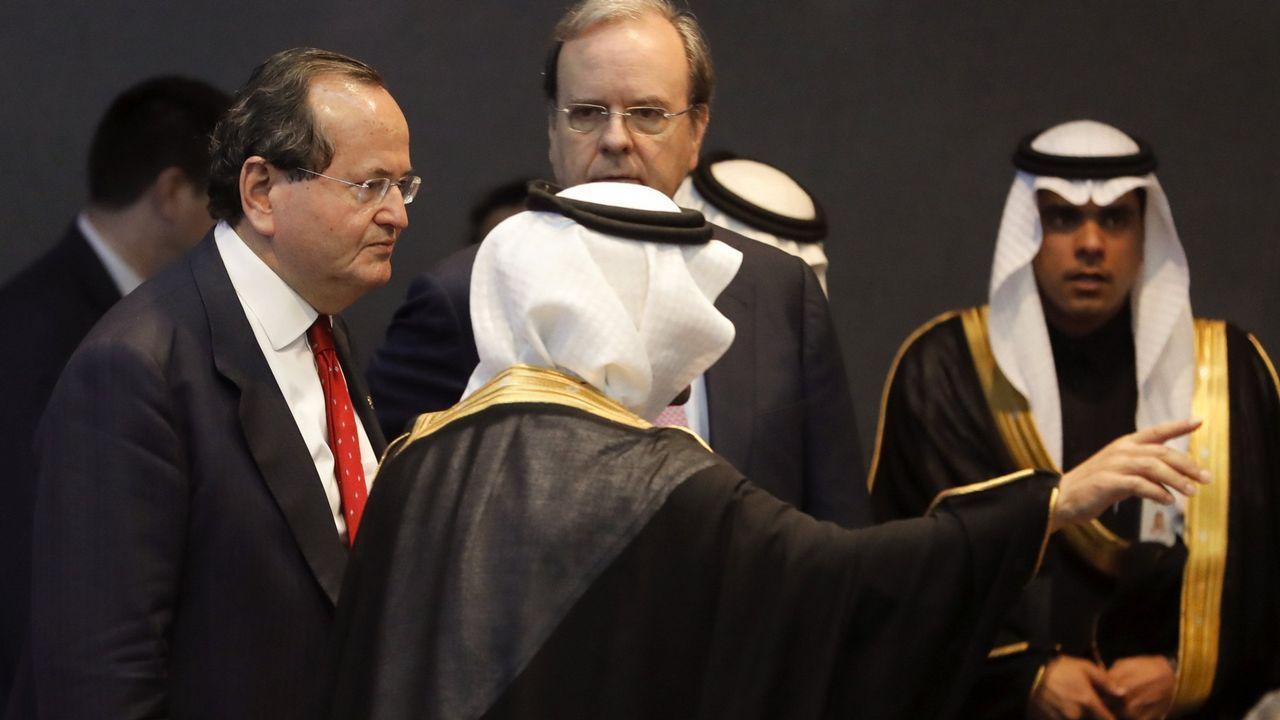 El presidente de Navantia, José Manuel Revuelta, en un viaje a Riad en el 2017