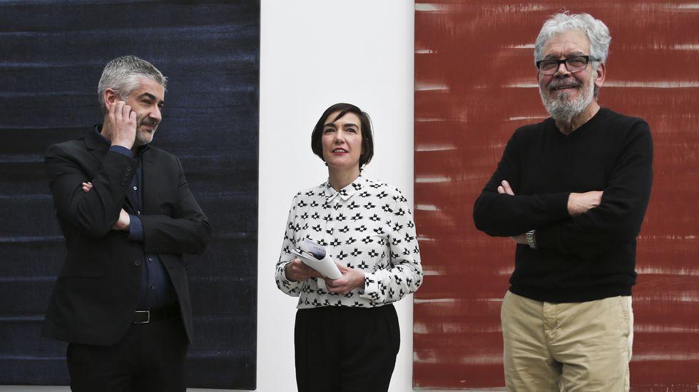 Inuguración exposición de Ánxel Huete en el Marco.O secretario xeral de Política Lingüística, Valentín García, cre que en Vox descoñecen a realidade galega