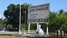 Imagen del letrero del aeropuerto de Cienfuegos (Cuba)