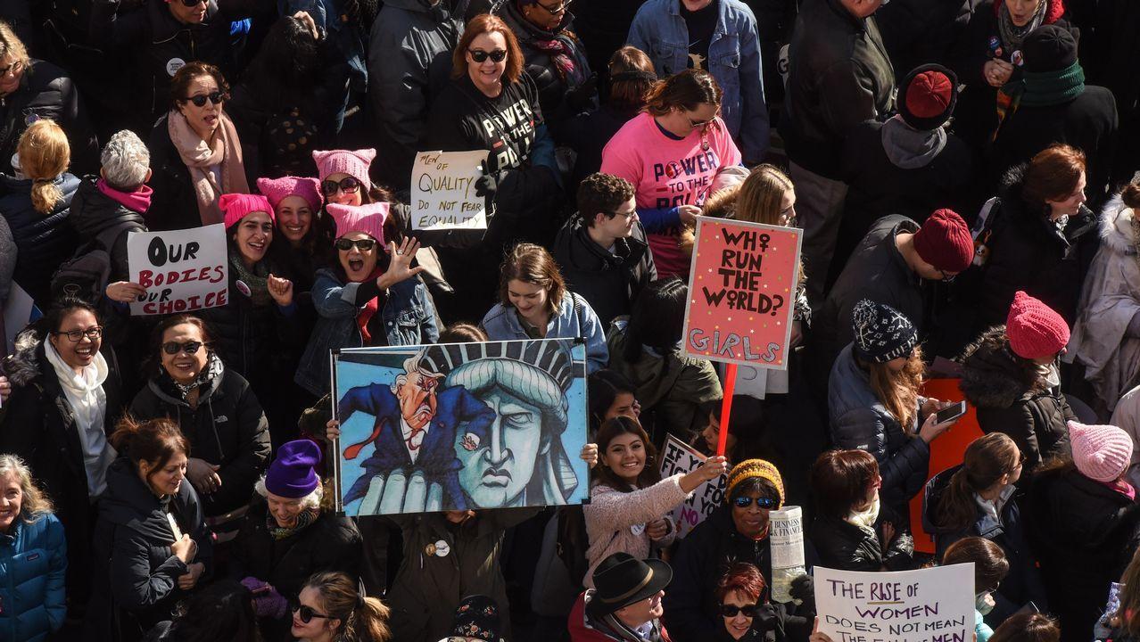 Multitudinaria marcha de mujeres contra Trump en EEUU.Donald Trump