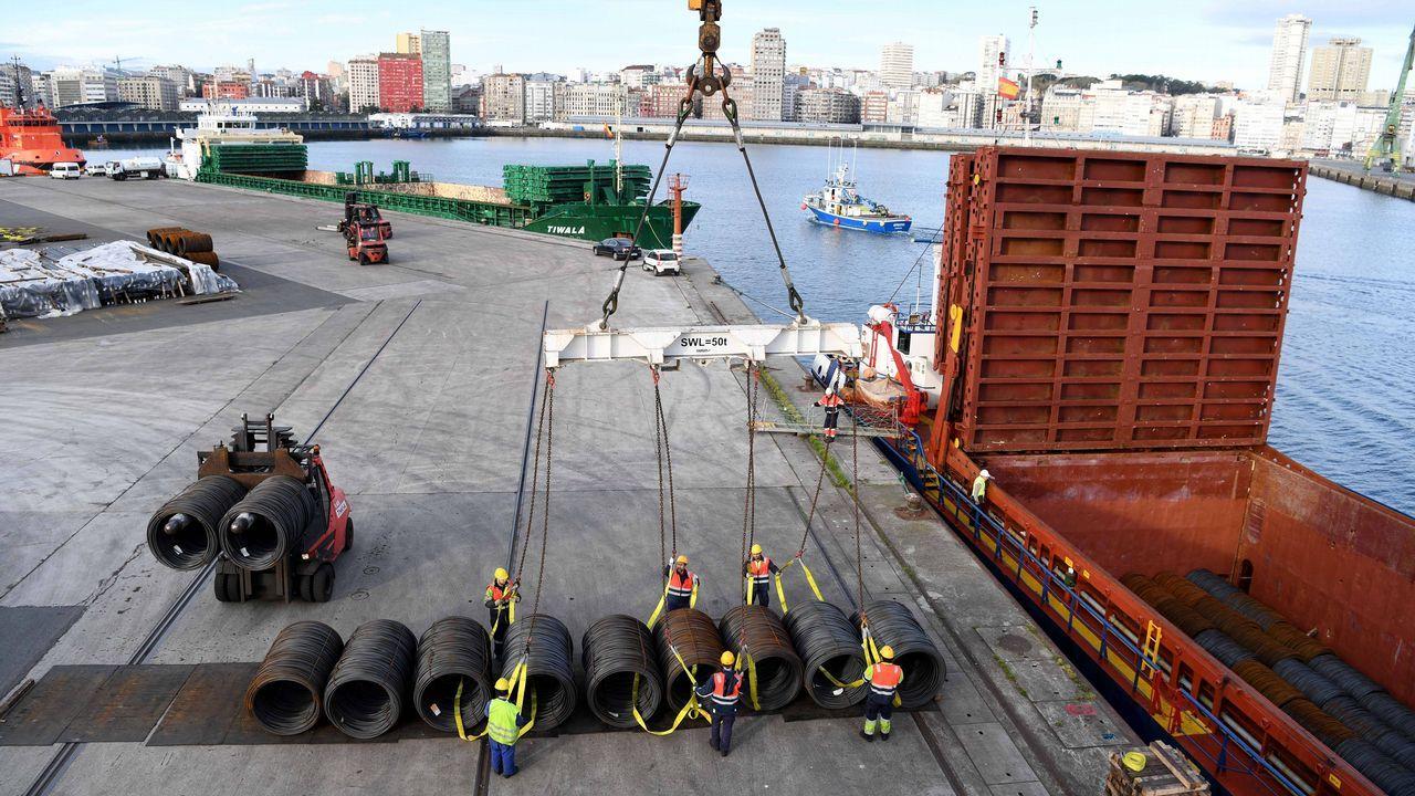Protesta de los trabajadores de seguridad del astillero Barreras