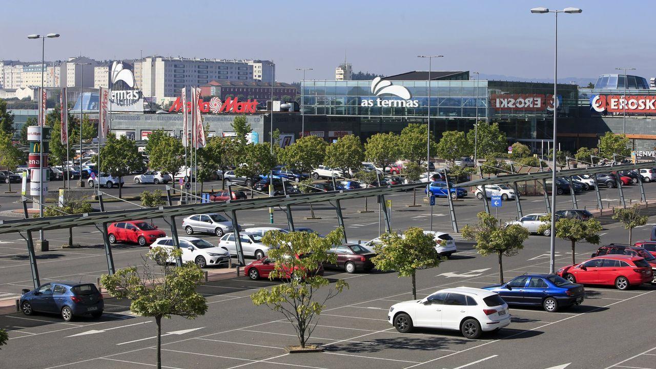 Vista del centro comercial As Termas