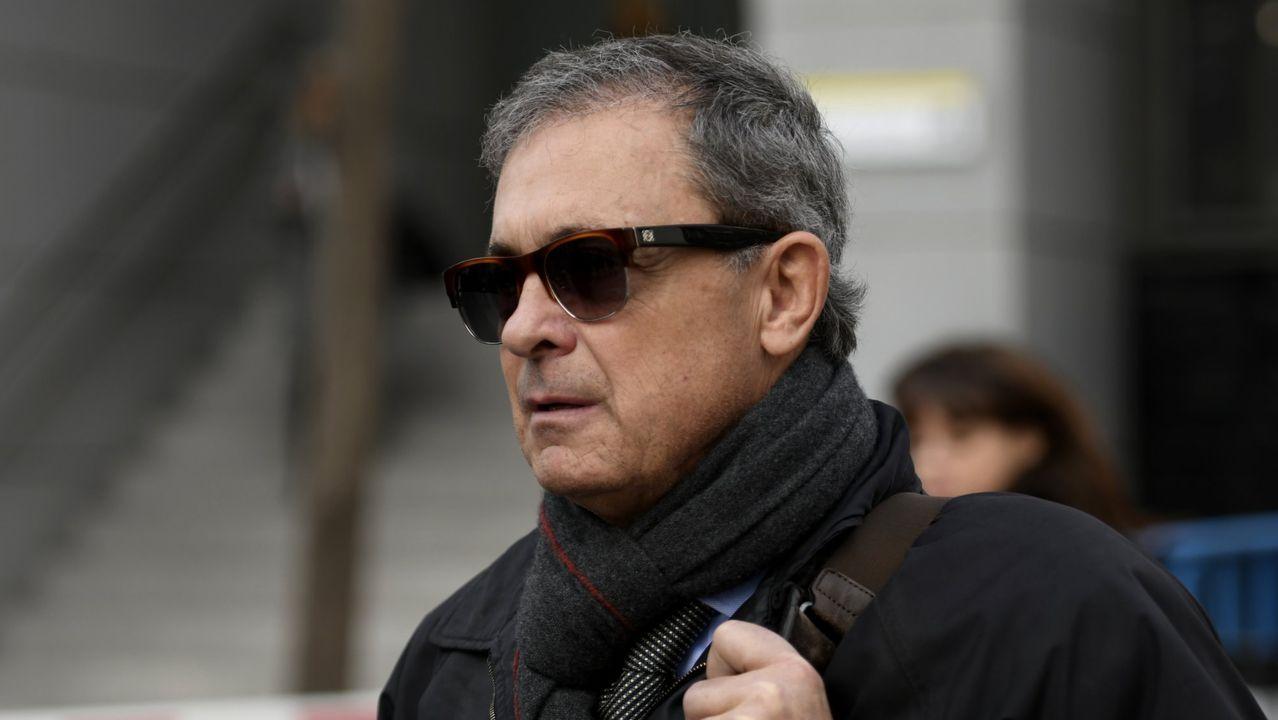 Jordi Pujol Ferrusola, a su salida de la Audiencia Nacional