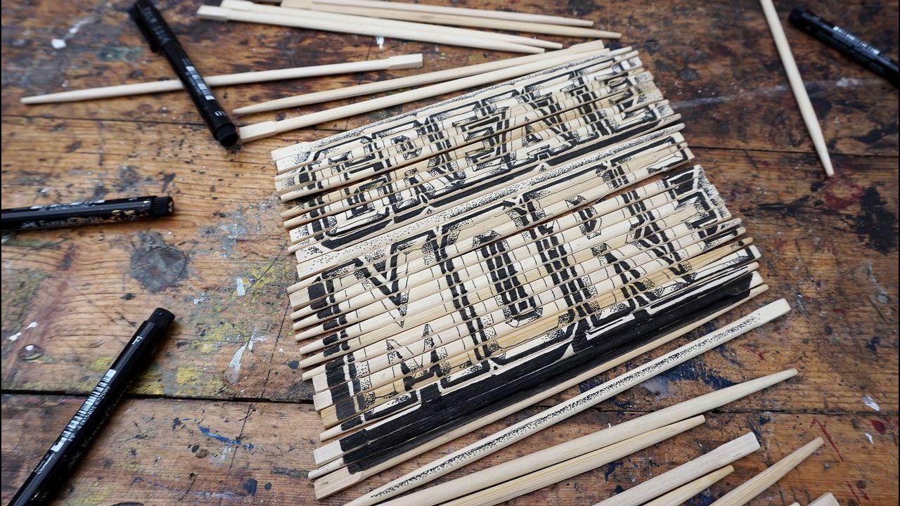 «Create More», también sobre palillos para comida oriental