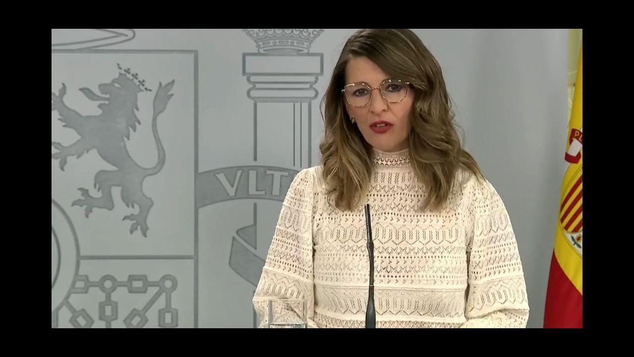 La ministra para la Transición Ecológica en funciones, Teresa Ribera, y presidente de Hunosa, Gregorio Rabanal,