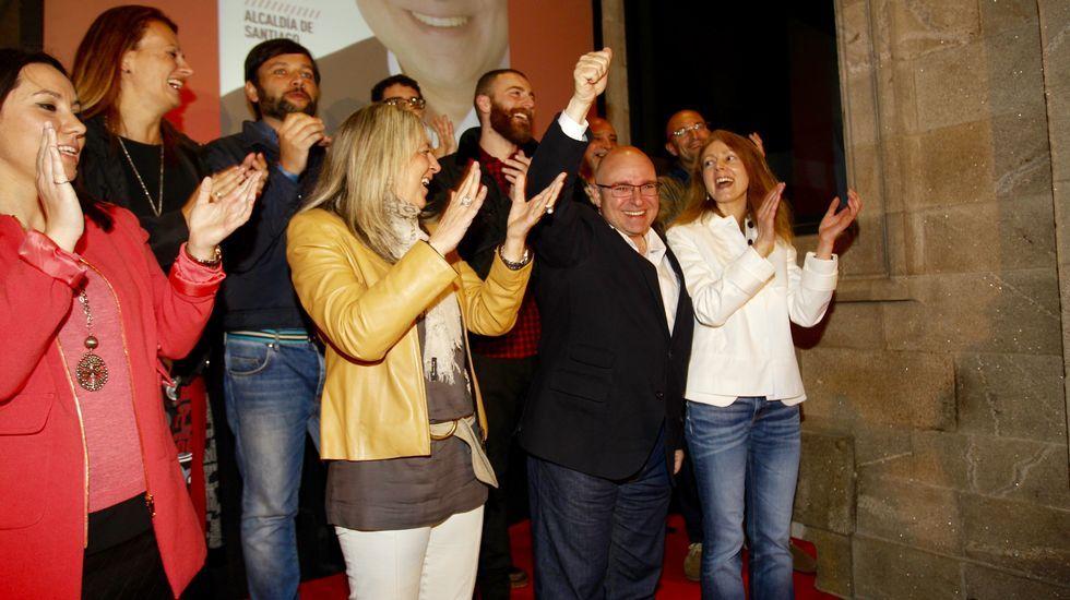 El candidato del PSdeG en Santiago, Paco Reyes