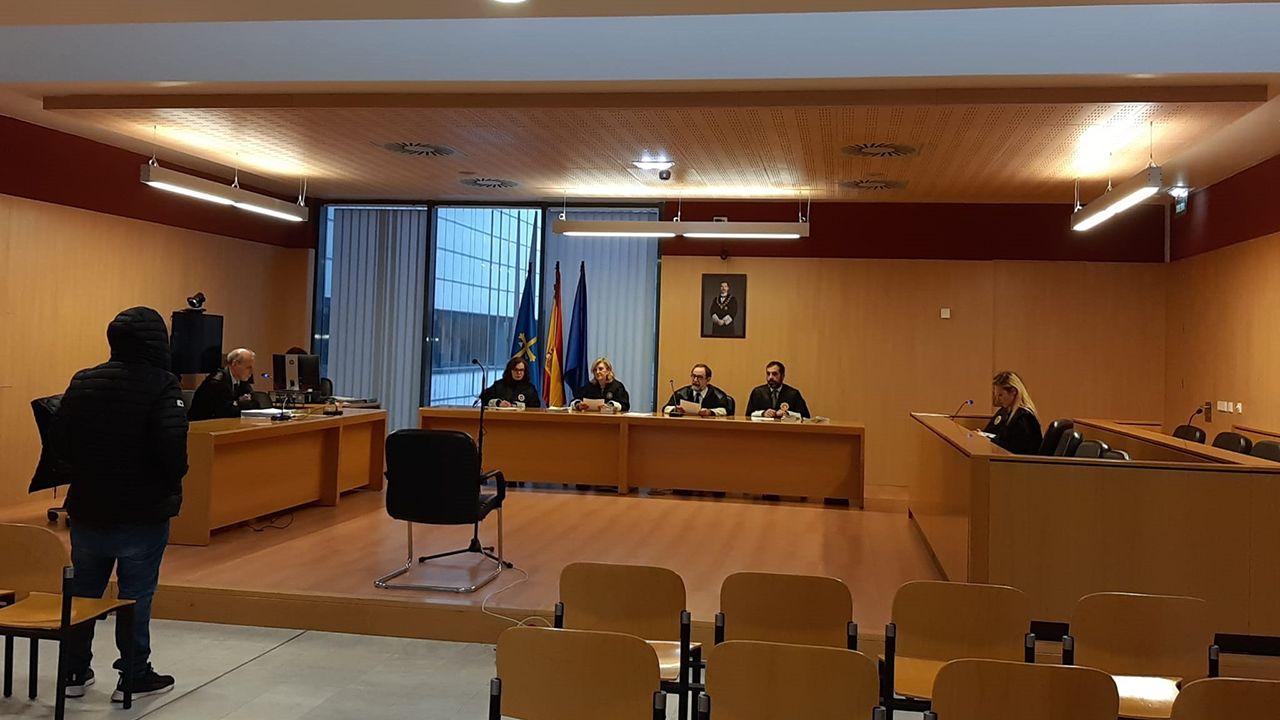 El acusado de agredir con una navaja a su hermano, en la Audiencia Provincial con sede en Gijón