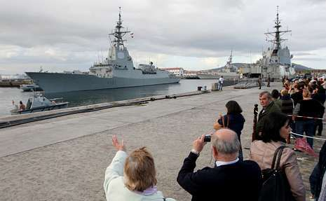 <span lang= es-es >LA PRIMERA DE LA SERIE...</span>. La «Álvaro de Bazán» (F-101) es la primera de las cinco de las que se compone la serie, unas fragatas a día de hoy punteras en Europa.