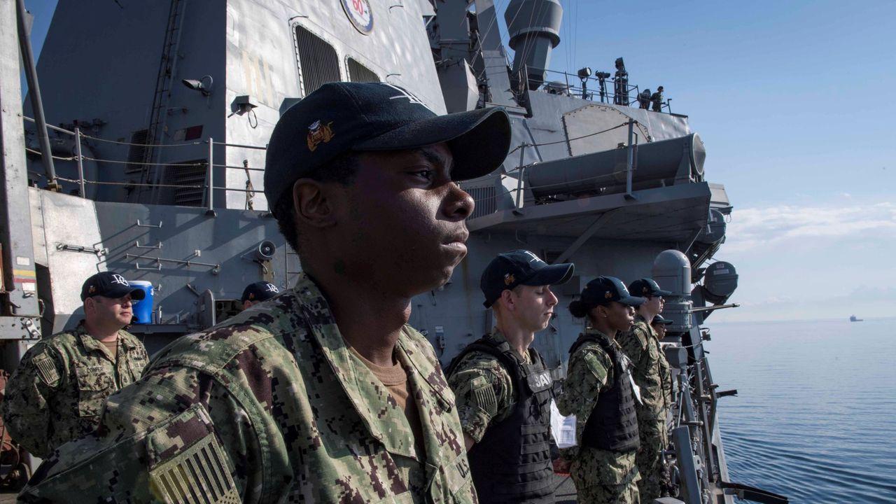 El destructor Donald Cook es uno de los cuatro buques estadounidenses desplegados