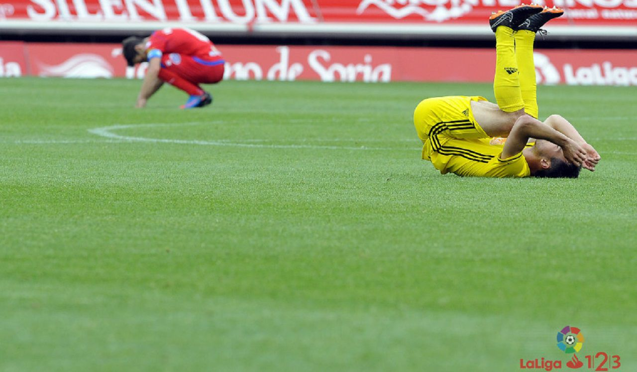 Numancia Osasuna Los Pajaritos.Aaron y Saul celebran la victoria frente al Sevilla Atletico