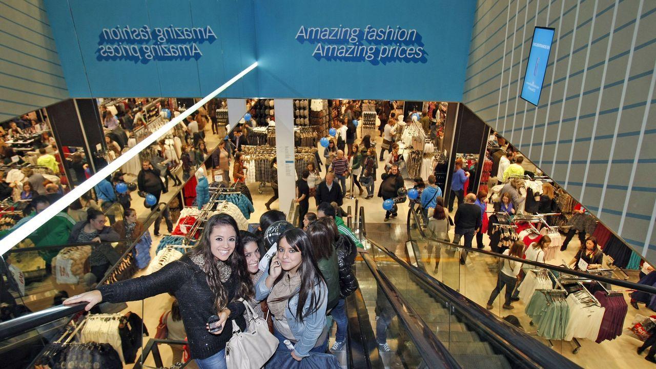 Así está el viejo matadero.Primark abrió su tienda en Santiago en el año 2012