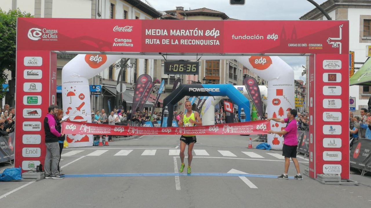 Sergio Sánchez, ganador de la media maratón