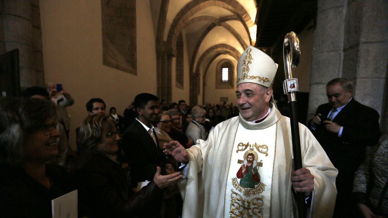 Luis Ángel de las Heras califica de «inolvidable» su ordenación como obispo en Mondoñedo en el 2016, en imagen