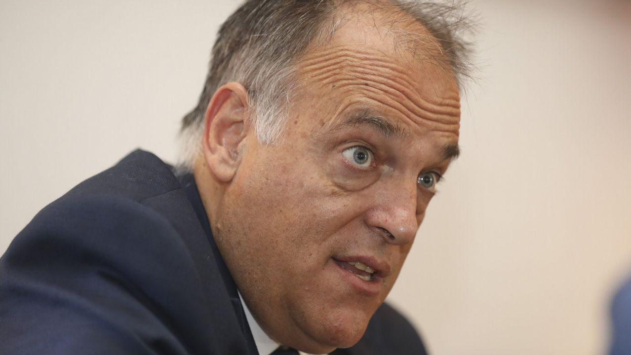 Tebas: «Cambiaría la ley para poder suspender la final de Copa si hay pitidos»