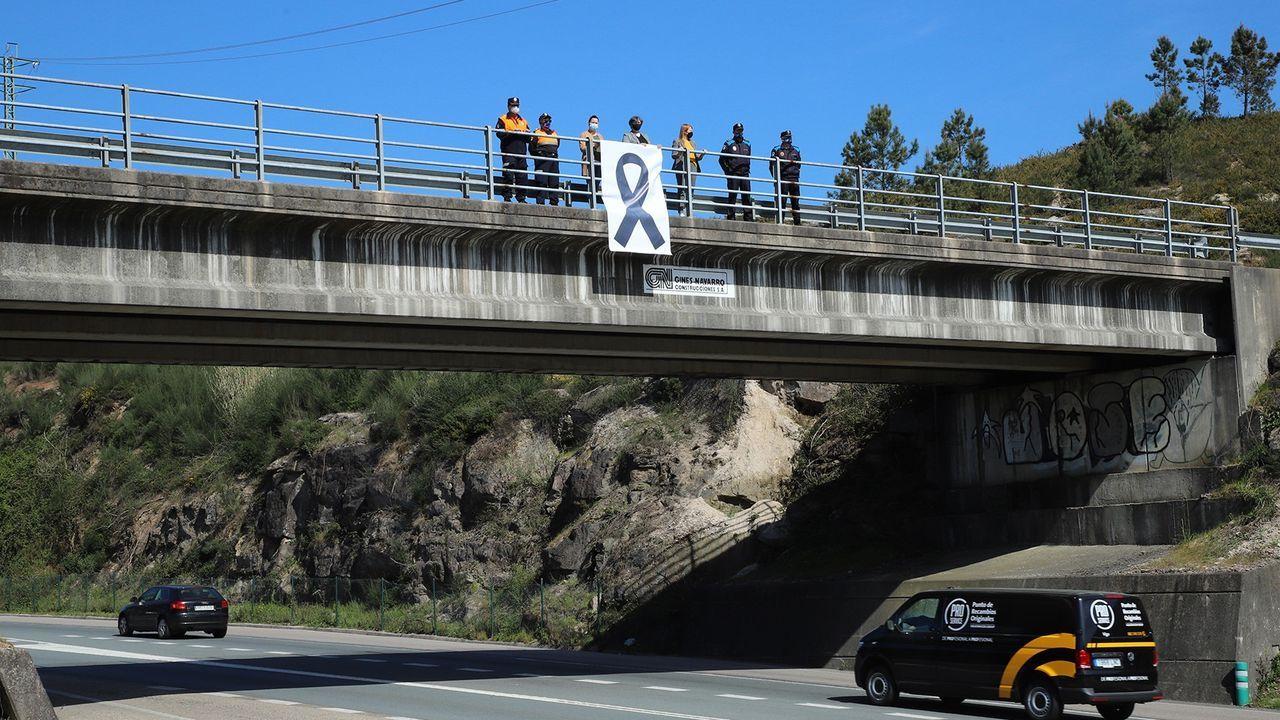 Jornada de protesta de la flota gallega en Baiona.Imagen de archivo del parque de bomberos de Ponteareas