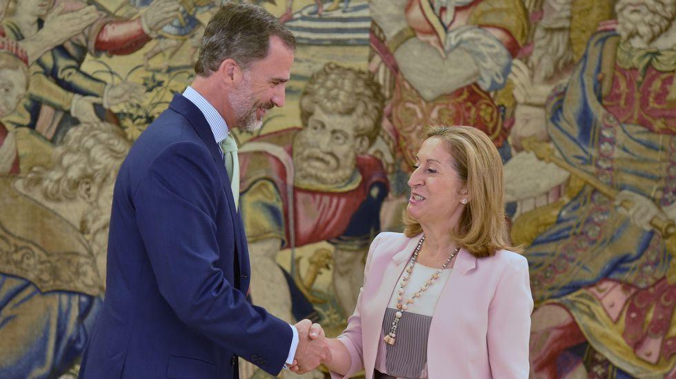El rey Felipe VI  recibe a Ana Pastor